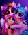 Size: 1419x1744 | Tagged: safe, artist:mite-lime, izzy moonbow, pipp petals, sunny starscout, earth pony, pegasus, pony, unicorn, g5, blushing, open mouth