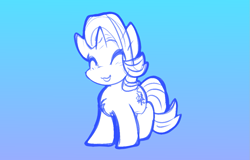 Size: 1173x751   Tagged: safe, artist:zutcha, starlight glimmer, pony, unicorn, chest fluff, smiling, solo
