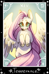 Size: 785x1181   Tagged: safe, artist:leonrat, fluttershy, pegasus, pony, hooves to the chest, solo, tarot card