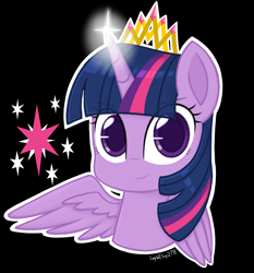 Size: 1358x1458 | Tagged: safe, artist:laylaelvy278, twilight sparkle, alicorn, pony, jewelry, looking at you, smiling, solo, tiara, twilight sparkle (alicorn)