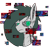 Size: 2304x2220 | Tagged: safe, artist:damset, oc, oc:derpy_b0t, earth pony, pony, robot, robot pony, error, glitch, looking at you, male, simple background, solo, stallion, transparent background