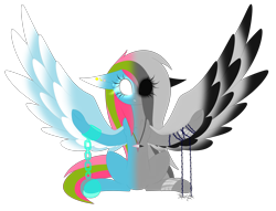 Size: 2656x2032   Tagged: safe, artist:mediasmile666, oc, oc only, oc:media smile, pegasus, pony, chains, ear piercing, female, jewelry, mare, pendant, piercing, simple background, solo, transparent background