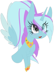 Size: 2113x2801   Tagged: safe, artist:mediasmile666, oc, oc only, alicorn, alicorn oc, bust, commission, female, hoof shoes, horn, mare, simple background, smiling, transparent background, wings