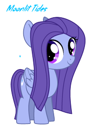 Size: 960x1364   Tagged: safe, artist:hate-love12, oc, oc:moonlit tides, pegasus, pony, female, filly, simple background, solo, transparent background