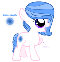Size: 1215x1266   Tagged: safe, artist:hate-love12, oc, oc:ocean depths, earth pony, pony, amputee, female, filly, simple background, solo, transparent background