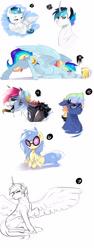 Size: 1500x4000 | Tagged: safe, artist:kraytt-05, oc, oc only, oc:light spectrum, oc:mixers headphones, oc:philadelfia, oc:rainbow thunder, oc:zero fire, alicorn, pegasus, pony, unicorn, alcohol, alicorn oc, baby, baby pony, beer, cider, drunk, female, glasses, horn, interspecies offspring, long tongue, male, mare, offspring, parent:discord, parent:neon lights, parent:princess cadance, parent:rainbow dash, parent:shining armor, parent:soarin', parent:vinyl scratch, parents:discodash, parents:shiningcadance, parents:soarindash, parents:vinylights, simple background, stallion, sunglasses, tongue out, white background, wings