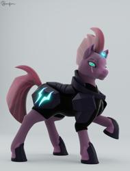 Size: 1724x2264 | Tagged: safe, tempest shadow, pony, unicorn, 3d, blender, blender cycles, parent:tempest shadow, render, solo