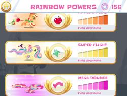 Size: 2048x1536   Tagged: safe, applejack, fluttershy, pinkie pie, pony power, rainbow power, rainbow runners