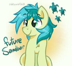 Size: 1173x1080 | Tagged: safe, artist:rolexwatch31, sandbar, earth pony, pony, cute, cutie mark, happy, male, older, older sandbar, sandabetes, smiling, solo, stallion