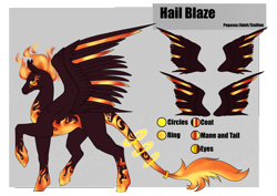 Size: 4961x3508 | Tagged: safe, artist:oneiria-fylakas, oc, oc:hail blaze, pegasus, pony, male, solo, stallion