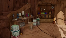 Size: 1171x676 | Tagged: safe, artist:more-useless-source, 3d, golden oaks library, no pony