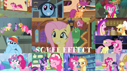 Size: 1280x721 | Tagged: safe, edit, edited screencap, editor:quoterific, screencap, applejack, fluttershy, pinkie pie, princess cadance, princess flurry heart, rainbow dash, scootaloo, spike, twilight sparkle, alicorn, dragon, earth pony, pegasus, pony, unicorn, a canterlot wedding, daring don't, feeling pinkie keen, games ponies play, green isn't your color, party pooped, ppov, read it and weep, scare master, season 1, season 2, season 3, season 4, season 5, season 6, stare master, the crystalling, the one where pinkie pie knows, twilight time, ^^, applejack's hat, baby, baby pony, cowboy hat, cute, cutealoo, daaaaaaaaaaaw, dashabetes, dashface, diapinkes, eyes closed, female, filly, fluttershy's cottage, golden oaks library, hat, jackabetes, male, mare, pinkie being pinkie, shyabetes, smiling, squee, stallion, sugarcube corner, twiabetes, twilight sparkle (alicorn), twilight's castle, unicorn twilight