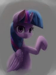 Size: 1500x2000 | Tagged: safe, artist:usager, twilight sparkle, alicorn, simple background, solo