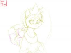 Size: 1600x1200 | Tagged: safe, artist:sora da shima, princess celestia, alicorn, pony, female, mare, sketch