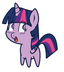 Size: 556x620 | Tagged: safe, artist:mayaliicious, twilight sparkle, alicorn, pony, chibi, cute, missing cutie mark, simple background, solo, transparent background, twiabetes, twilight sparkle (alicorn)