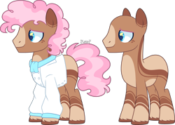 Size: 3877x2757 | Tagged: safe, artist:kurosawakuro, oc, earth pony, pony, male, offspring, parent:donut joe, parent:pinkie pie, parents:pinkiejoe, simple background, solo, stallion, transparent background
