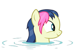 Size: 5100x3744   Tagged: safe, artist:mundschenk85, bon bon, sweetie drops, earth pony, pony, comic:all in good fun, background pony, female, mare, show accurate, simple background, solo, transparent background, vector, water, wet, wet mane, wet mane bon bon