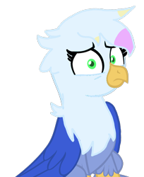 Size: 1080x1323 | Tagged: safe, artist:burst clouds, oc, griffon, 2021, base used, blue body, digital art, female, females only, green eyes, griffon oc, looking at you, simple background, transparent background