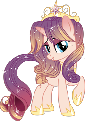 Size: 5859x8380 | Tagged: safe, artist:digimonlover101, oc, oc:rising sun, pony, unicorn, absurd resolution, crown, female, jewelry, mare, regalia, simple background, solo, transparent background
