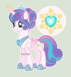 Size: 1087x1181   Tagged: safe, artist:pastelnightyt, princess flurry heart, alicorn, pony, happy, older, older flurry heart, solo