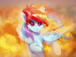 Size: 4000x3000 | Tagged: safe, artist:coldrivez, rainbow dash, pegasus, pony, chest fluff, eye clipping through hair, female, high res, mare, solo