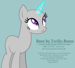 Size: 766x700 | Tagged: safe, artist:shiibases, oc, oc only, pony, unicorn, bald, base, female, horn, looking up, mare, simple background, solo, unicorn oc