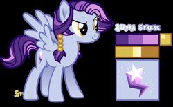 Size: 1280x792 | Tagged: safe, artist:star-gaze-pony, oc, oc:aurora streak, pegasus, pony, female, mare, offspring, parent:rainbow dash, parent:soarin', parents:soarindash, reference sheet, simple background, solo, transparent background
