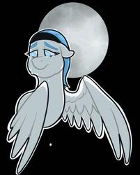 Size: 750x931 | Tagged: safe, artist:verikoira, oc, oc only, pegasus, pony, crying, female, full moon, mare, moon, pegasus oc, solo