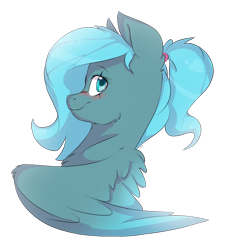 Size: 1413x1520 | Tagged: safe, artist:cookietasticx3, oc, oc only, pegasus, pony, bust, eye scar, pegasus oc, scar, simple background, smiling, solo, transparent background, wings
