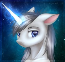 Size: 2160x2057 | Tagged: safe, artist:megabait, oc, oc only, pony, unicorn, bust, originalcharacter, portrait