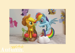 Size: 1079x768 | Tagged: artist needed, source needed, safe, applejack, rainbow dash, earth pony, pegasus, pony, appledash, cute, female, lesbian, photo, shipping