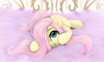 Size: 3000x1800 | Tagged: safe, artist:darksly, fluttershy, pegasus, pony, blushing, cute, daaaaaaaaaaaw, hair over one eye, looking at you, open mouth, shyabetes, weapons-grade cute
