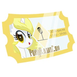 Size: 300x300 | Tagged: safe, oc, oc name needed, ponyradiocon, ticket