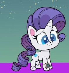 Size: 492x520 | Tagged: safe, screencap, rarity, pony, unicorn, my little pony: pony life, pony life, the comet section, spoiler:pony life s02e03, cropped, female, solo, watch, wristwatch