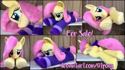Size: 5448x3045 | Tagged: safe, artist:qtpony, fluttershy, pony, irl, life size, photo, plushie, solo