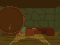 Size: 800x600   Tagged: safe, artist:rangelost, cyoa:d20 pony, barrel, basement, basket, cellar, no pony, table