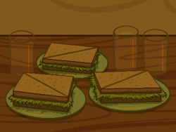 Size: 800x600   Tagged: safe, artist:rangelost, cyoa:d20 pony, cup, food, no pony, plate, sandwich