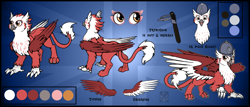 Size: 1280x549 | Tagged: safe, oc, oc:bobbie, griffon, eared griffon, female, griffish isles, reference sheet