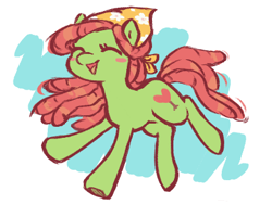 Size: 400x301 | Tagged: safe, artist:fizpup, tree hugger, earth pony, pony, blushing, cute, eyes closed, female, happy, huggerbetes, mare, open mouth, solo