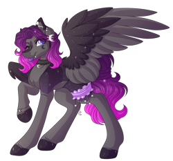 Size: 3564x3324 | Tagged: safe, artist:amazing-artsong, oc, oc:estelle, pegasus, pony, female, high res, mare, one eye closed, simple background, solo, tongue out, transparent background, two toned wings, wings, wink