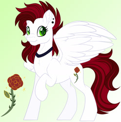 Size: 1600x1611   Tagged: safe, artist:missmele-madness, oc, oc:copper rose, pegasus, pony, female, mare, solo