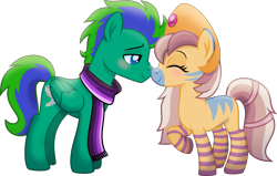 Size: 6288x4000 | Tagged: safe, artist:limedazzle, oc, oc only, oc:cygnus, oc:gale twister, pegasus, pony, zebra, absurd resolution, clothes, male, scarf, simple background, stallion, transparent background
