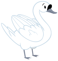 Size: 5732x6026 | Tagged: safe, artist:andoanimalia, bird, swan, memnagerie, spoiler:memnagerie, simple background, transparent background, vector