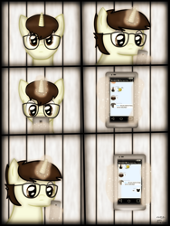 Size: 1750x2333 | Tagged: safe, artist:99999999000, oc, oc only, oc:cwe, pony, comic:visit, comic, male, phone, solo