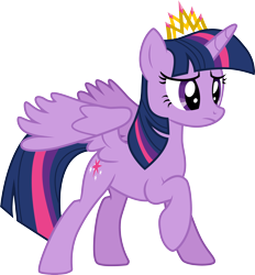 Size: 3000x3239 | Tagged: safe, artist:cloudyglow, twilight sparkle, alicorn, pony, equestria games (episode), .ai available, crown, jewelry, regalia, solo, twilight sparkle (alicorn), vector