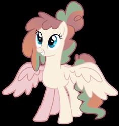 Size: 1280x1359 | Tagged: safe, artist:venomous-cookietwt, oc, pegasus, pony, female, magical lesbian spawn, mare, offspring, parent:princess flurry heart, parent:pumpkin cake, simple background, solo, transparent background