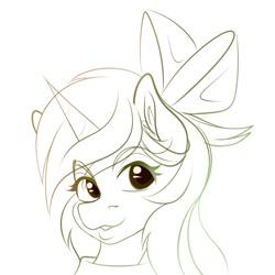 Size: 680x680   Tagged: safe, oc, oc only, oc:epsi, alicorn, pony, bow, ethanepsc4, female, hair bow, icon, mare, sketch