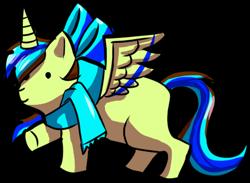 Size: 473x346   Tagged: safe, oc, oc only, oc:epsi, alicorn, original species, plush pony, pony, bow, clothes, cute, ethanepsc4, female, hair bow, mare, plushie, scarf