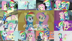Size: 1974x1112   Tagged: safe, edit, edited screencap, editor:quoterific, screencap, angel bunny, bon bon, fluttershy, lyra heartstrings, rainbow dash, sweetie drops, human, rabbit, a queen of clubs, equestria girls, equestria girls (movie), equestria girls series, fluttershy's butterflies, legend of everfree, mirror magic, rainbow rocks, rollercoaster of friendship, shake your tail, stressed in show, spoiler:eqg specials, animal, anxious, blushing, boots, camp everfree outfits, clenched fist, clothes, compression shorts, confident, crossed arms, culottes, cutie mark, cutie mark on clothes, dress, duo, duo female, electric guitar, equestria land, excited, eyes closed, female, flutterdash, fluttershy's butterflies: rainbow dash, forest, geode of fauna, geode of super speed, girly girl, guitar, hairpin, hand on hip, happy, helping twilight win the crown, hoodie, indoors, jewelry, lesbian, long hair, magical geodes, male, multicolored hair, musical instrument, necklace, nervous, open mouth, outdoors, pink eyes, pink hair, ponied up, ponytail, rainbow hair, sandals, shipping, shirt, shoes, shorts, shorts under skirt, sitting, skirt, smiling, sneakers, soccer field, sports shorts, surprised, t-shirt, tambourine, tanktop, teal eyes, tights, tomboy, tree, unamused, wall of tags, wings, wristband, yellow skin