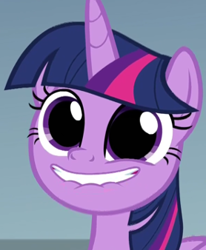 Size: 278x338 | Tagged: safe, edit, screencap, twilight sparkle, alicorn, pony, sparkle's seven, cropped, cute, faic, female, i came, lip bite, mare, pudding face, reflection, solo, twiabetes, twilight sparkle (alicorn), twilight sparkle is best facemaker